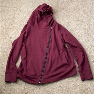 Lucy athletics side zip hoodie maroon size large